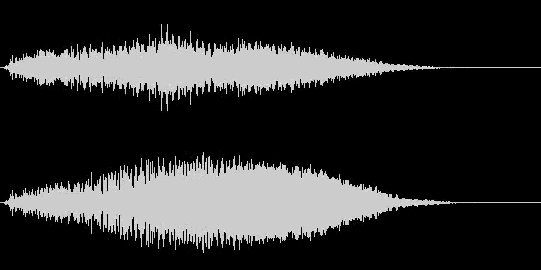タイトルバック ホラー3の未再生の波形