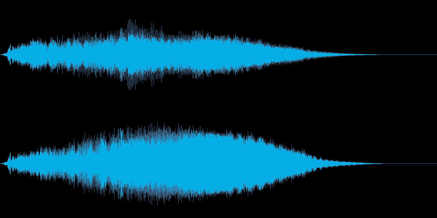 タイトルバック ホラー3の再生済みの波形