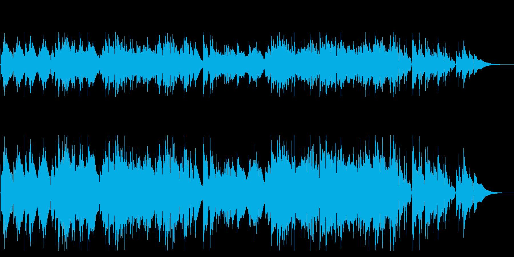 ガットギターによる暖かく牧歌的な曲の再生済みの波形