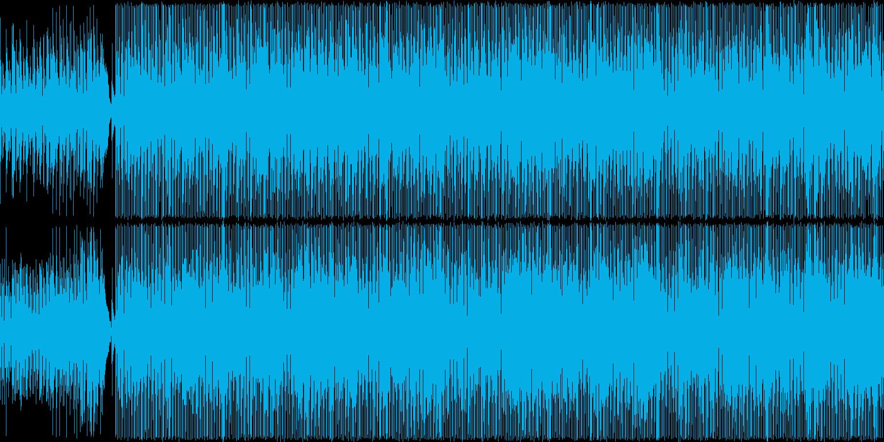 アコギによる軽快で明るい旋律の曲の再生済みの波形