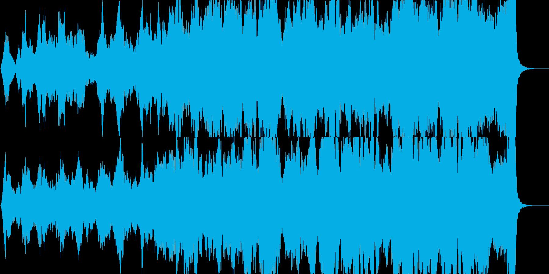 凛々しいく優しい壮大なストリングス曲の再生済みの波形