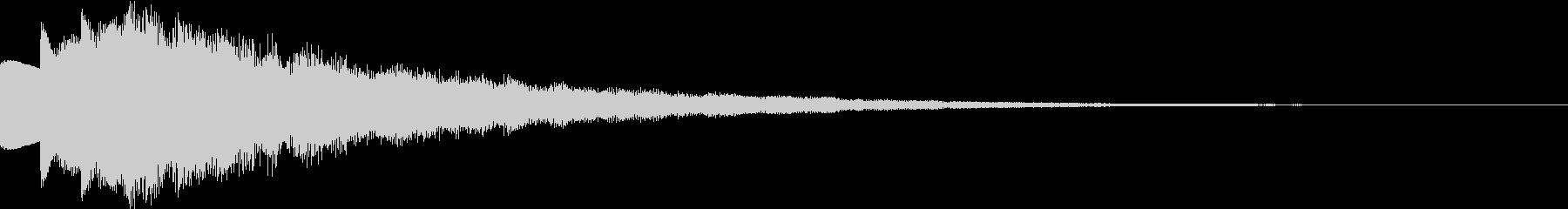 キラキラ 決定音 成功音の未再生の波形