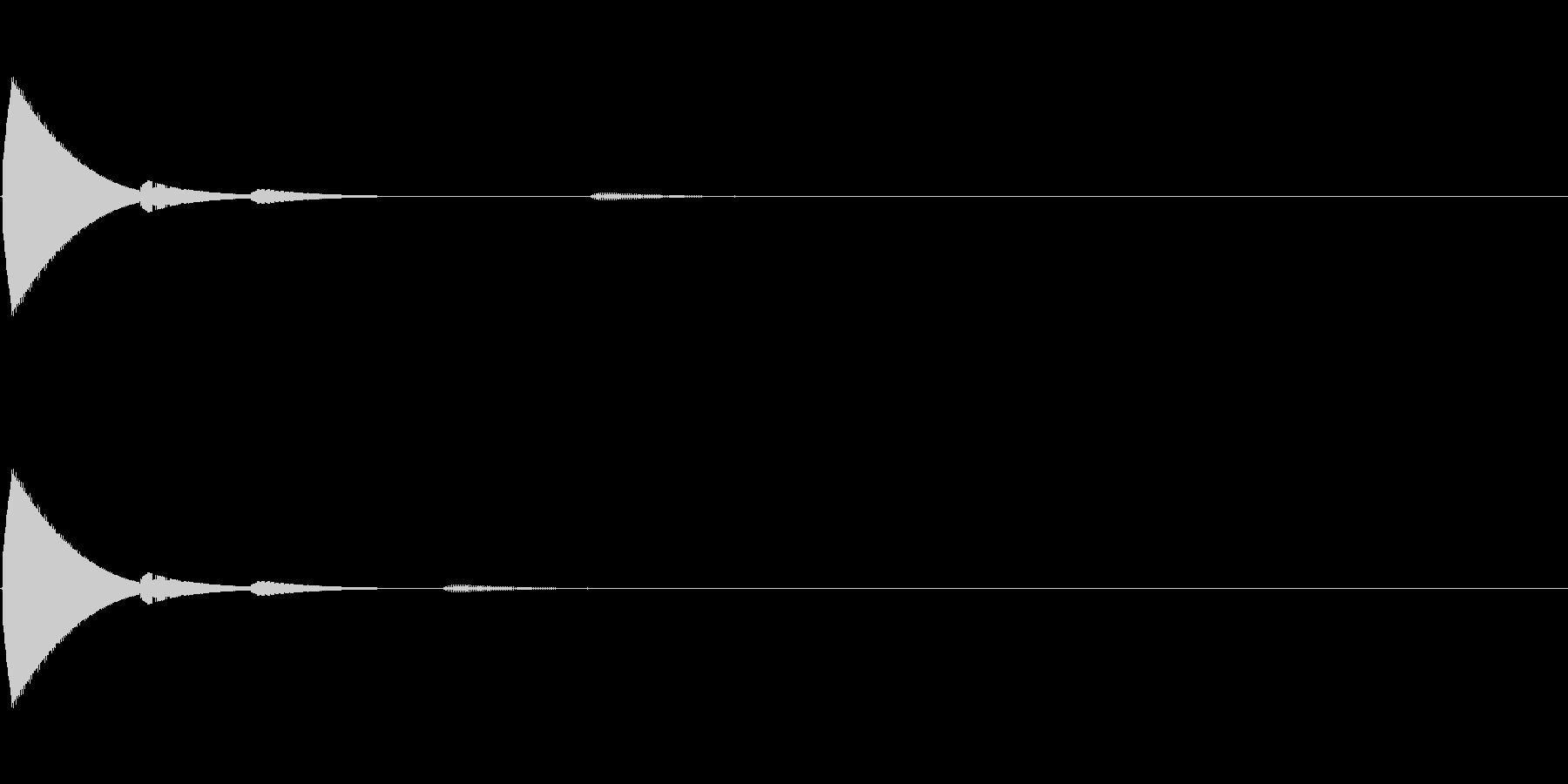 決定/クリック/選択音(ピコッ)の未再生の波形