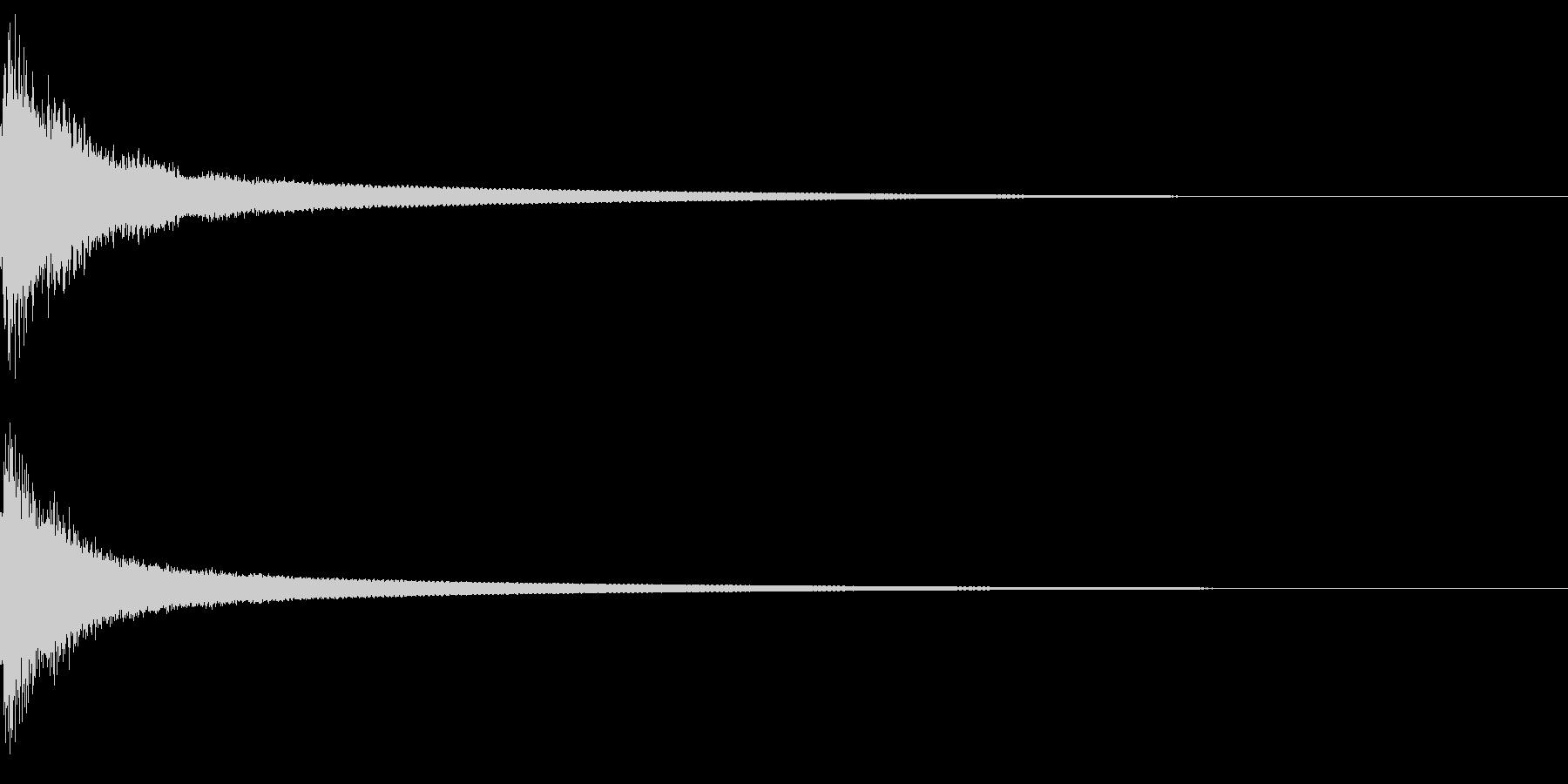 パァーン! 銅鑼の音の未再生の波形