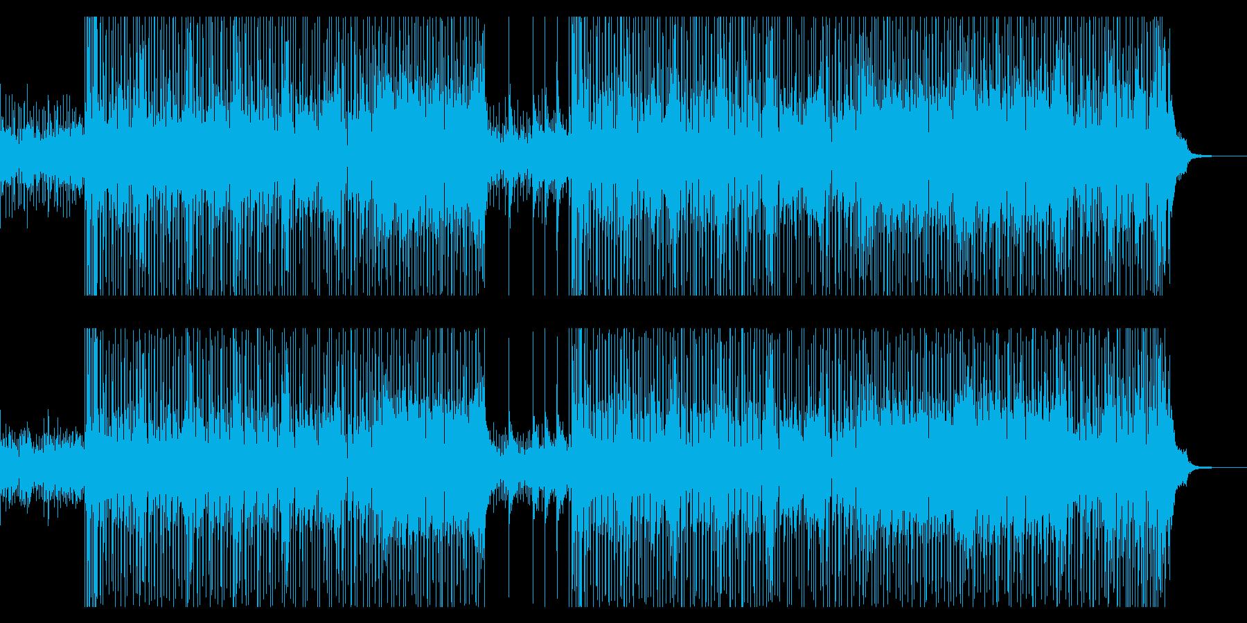 爽やかなBGM向けフュージョンの再生済みの波形