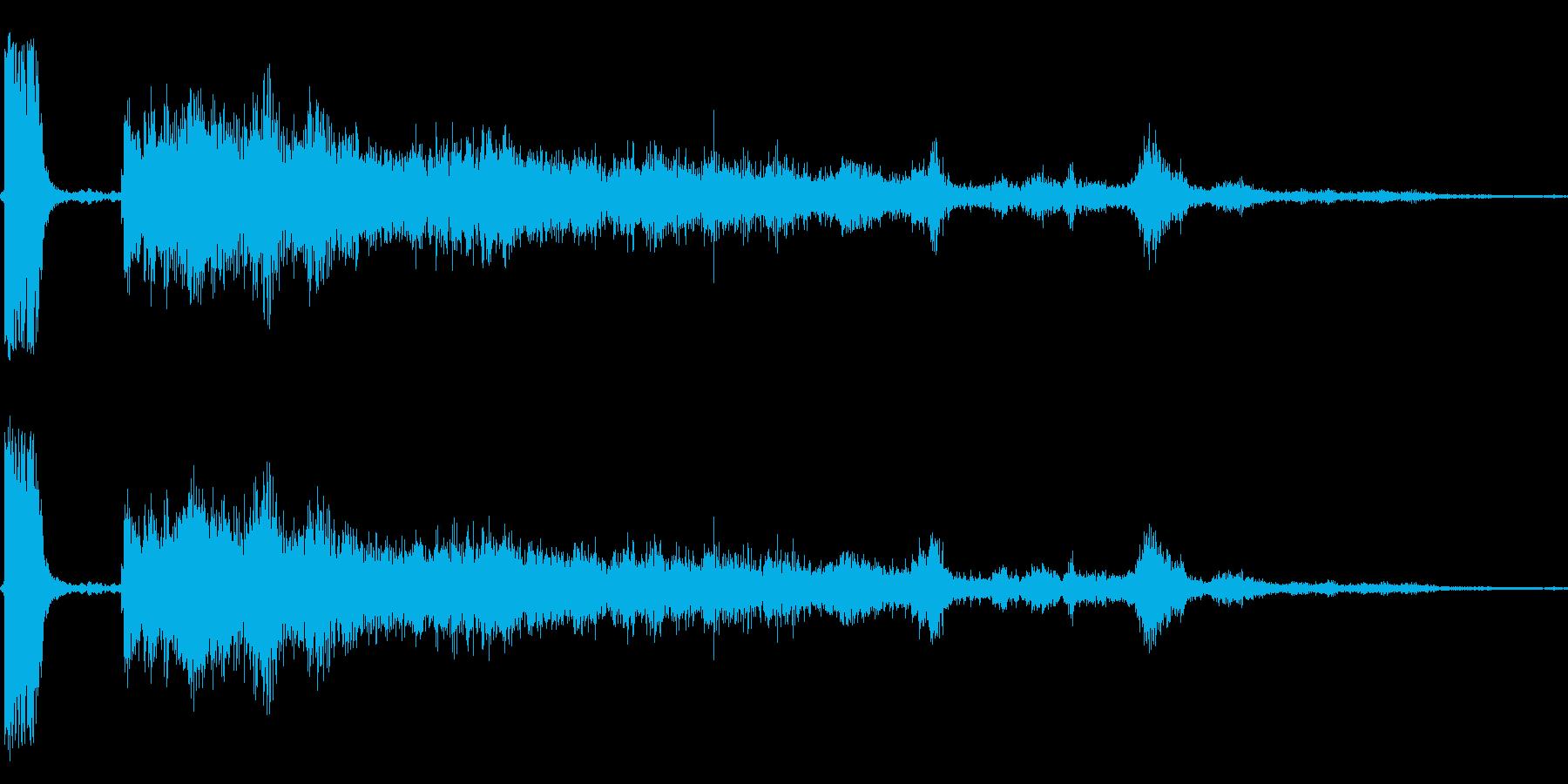 【本物】小型ミサイル発射音の再生済みの波形