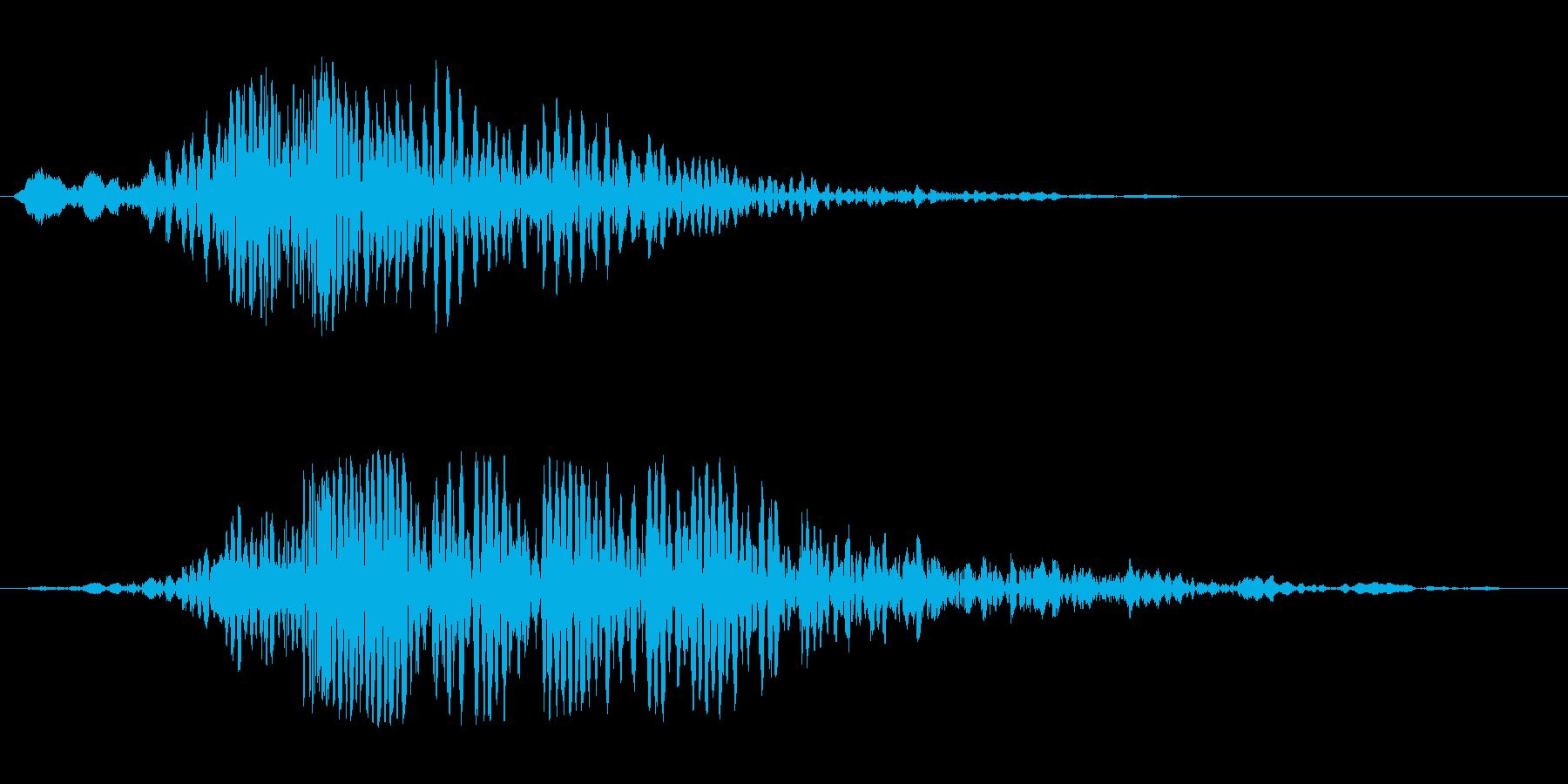 ガガガーキラン(重みのある音→輝く音)の再生済みの波形