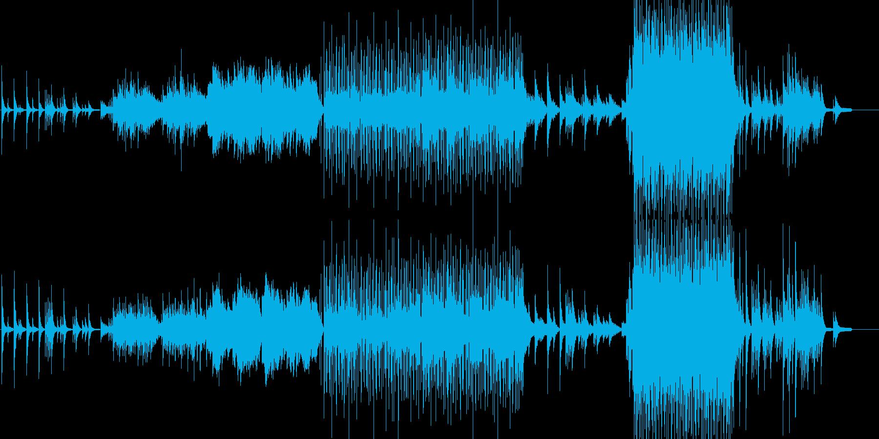ピアノとフルートを中心としたヒーリングの再生済みの波形