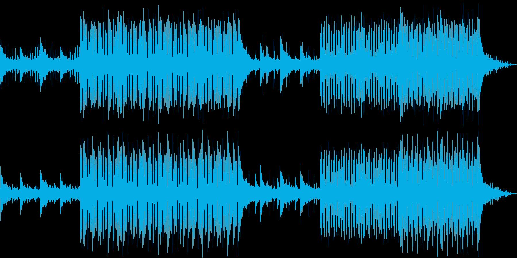 夏のサンセットに合うチルアウトハウスの再生済みの波形