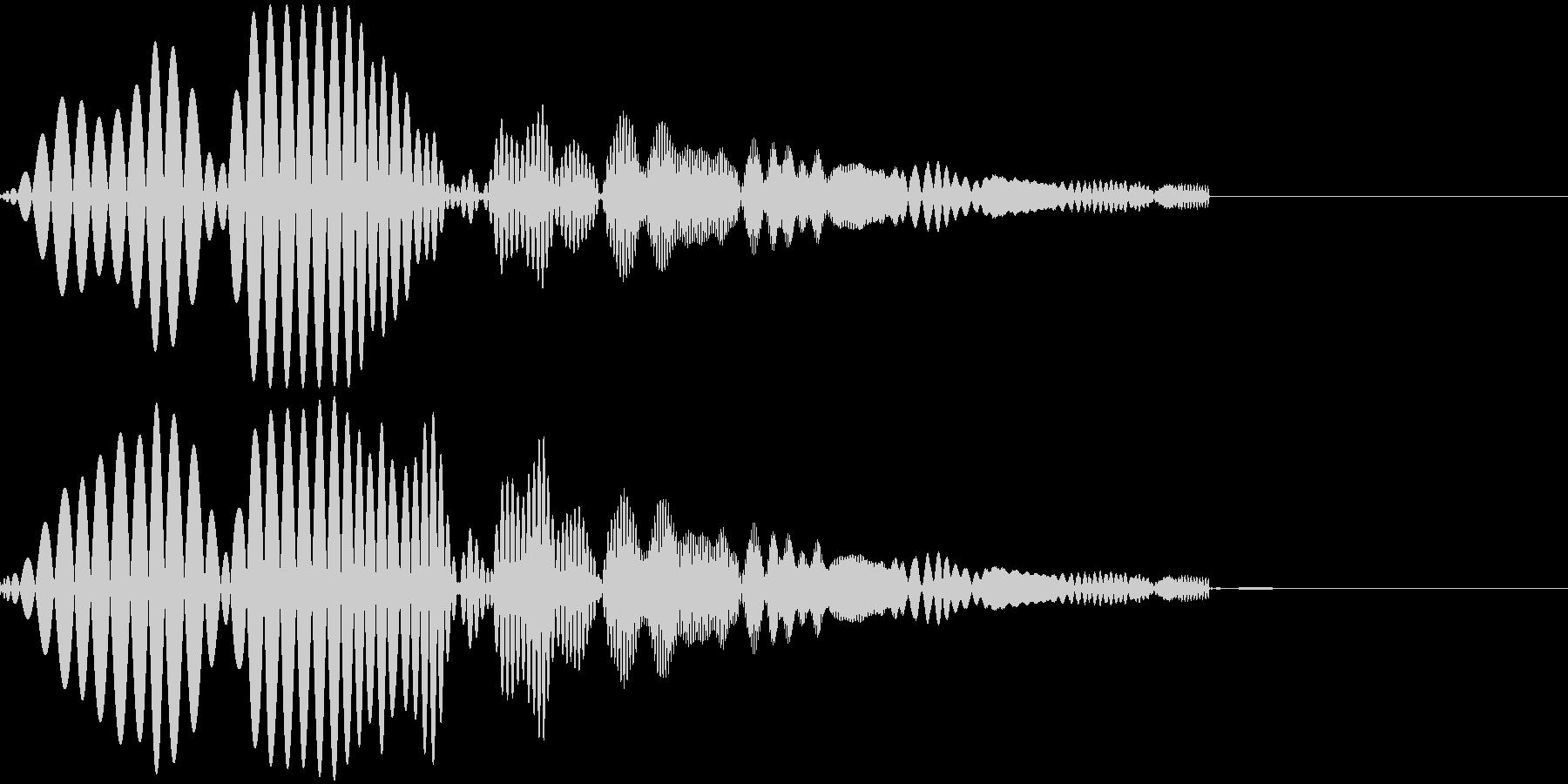 ポップな音 ゲームの未再生の波形