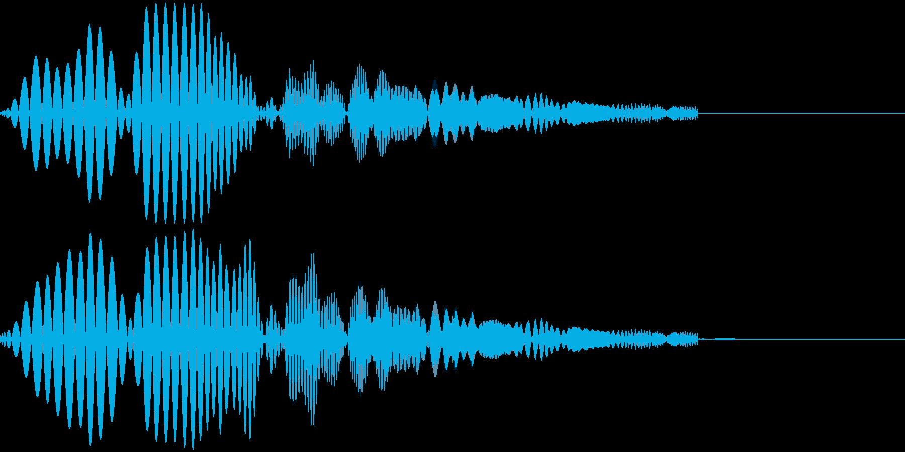 ポップな音 ゲームの再生済みの波形