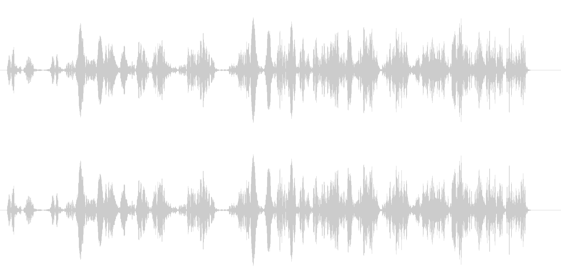 泡が湧き上る音(細かい、大量)の未再生の波形