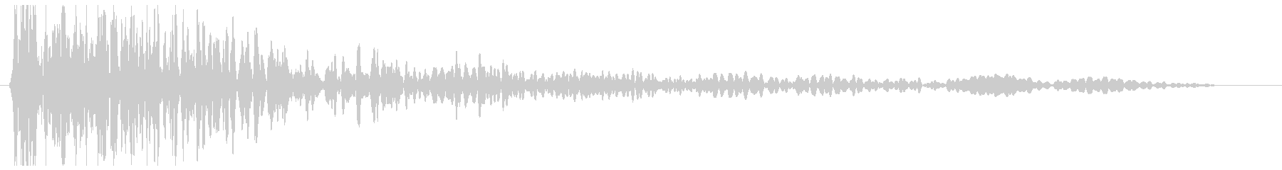 ドォォォン(爆発音)の未再生の波形