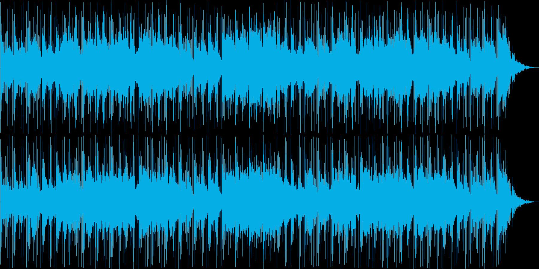 静かで緊張感のある場面をイメージした曲の再生済みの波形