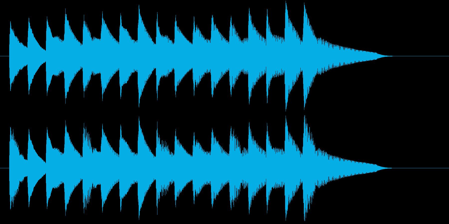 失敗したときに流れてきそうなジングルの再生済みの波形
