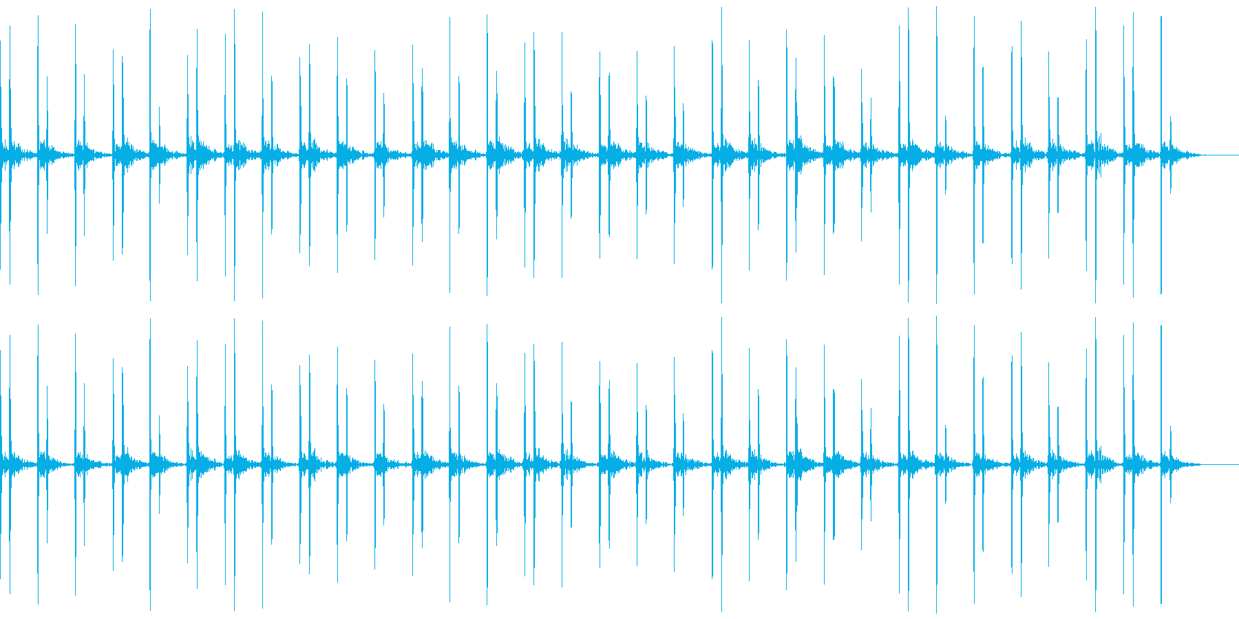 ドックン(早い心臓音)の再生済みの波形