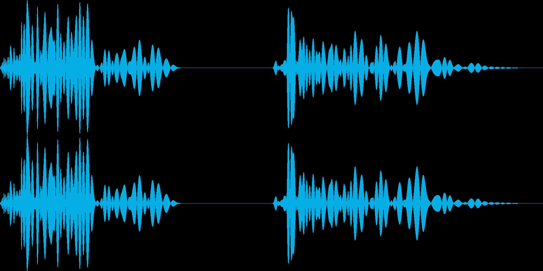 ドックン(鼓動音 緊張感)の再生済みの波形