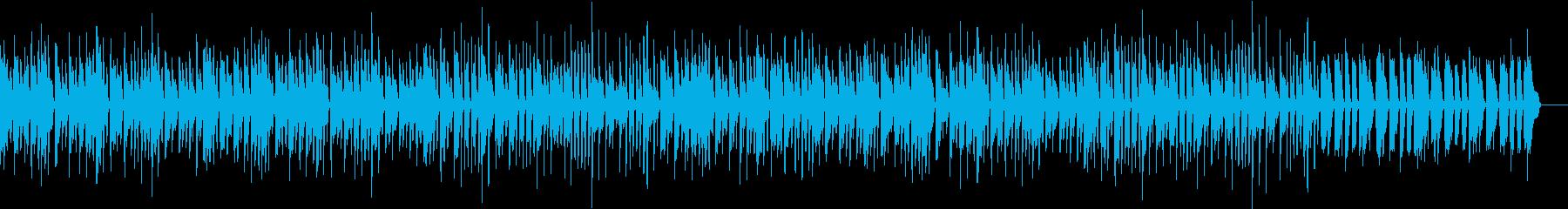 子供がちょこまか動き回るイメージの曲の再生済みの波形