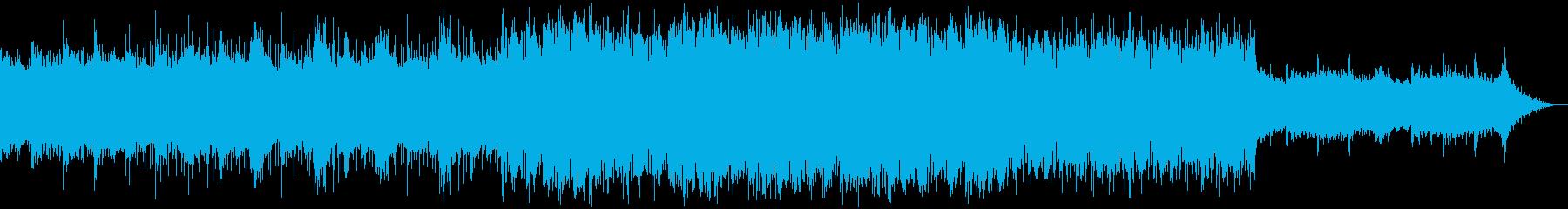 クールな映画のBGMに シンセとピアノの再生済みの波形