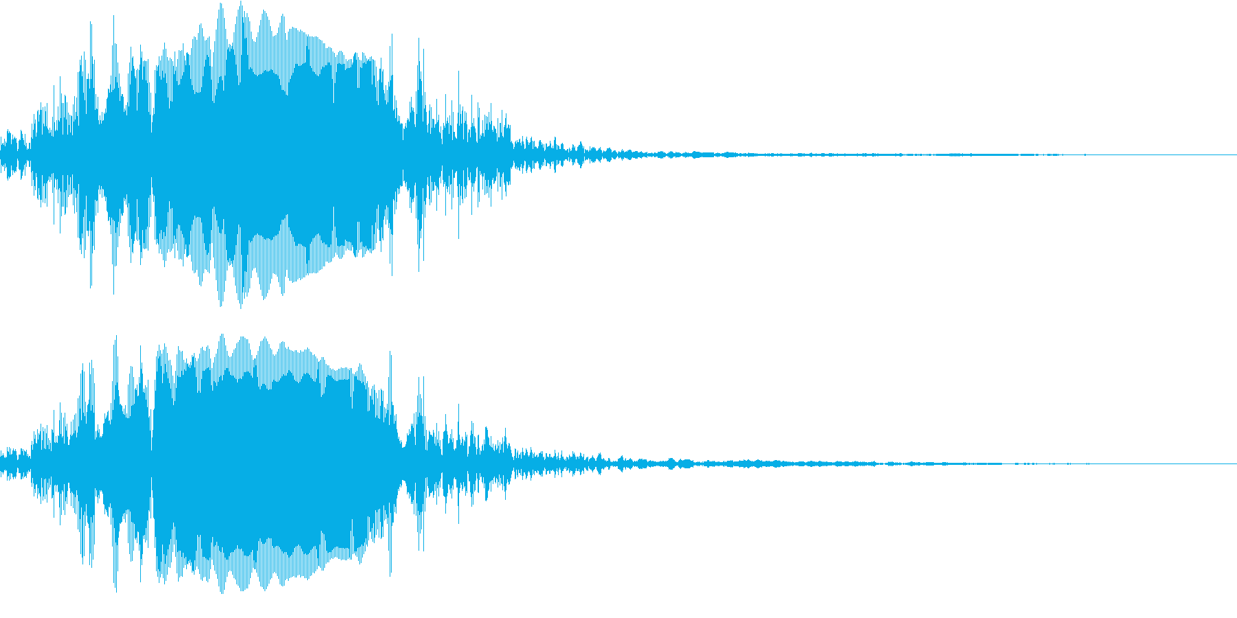鳥モンスターの叫び(少し遠目から)の再生済みの波形
