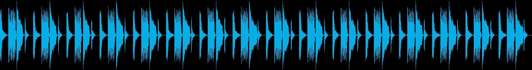 ロボットが考えている音の再生済みの波形