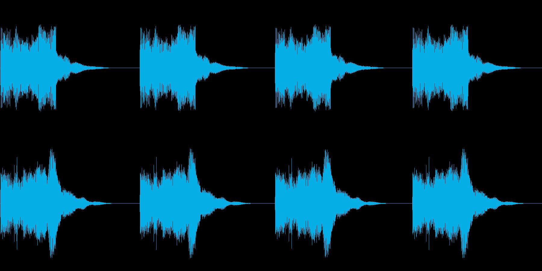 ビー ビー ビー ビー(アラーム)の再生済みの波形