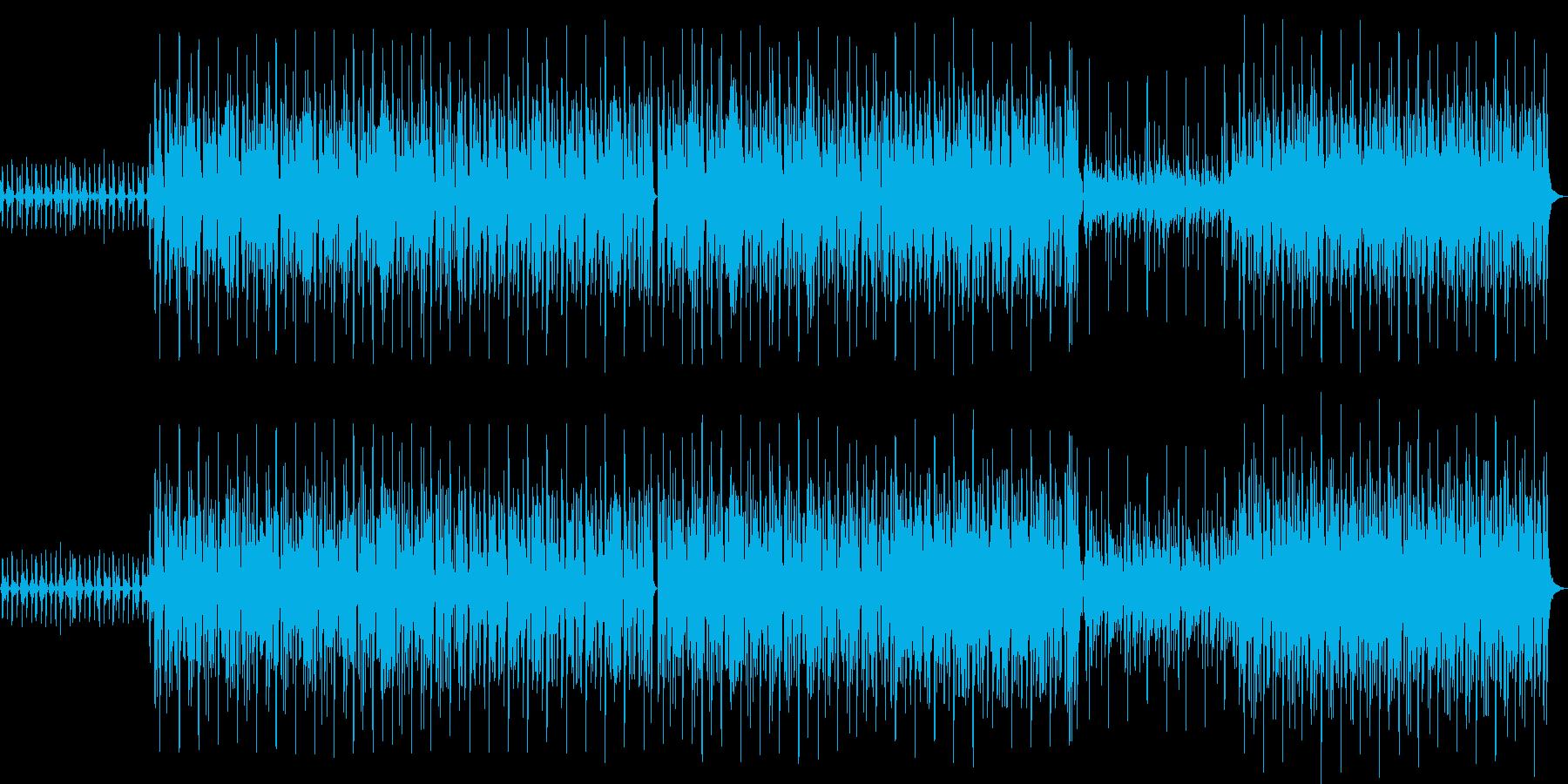 哀愁のあるアコギとスラップベースのハウスの再生済みの波形