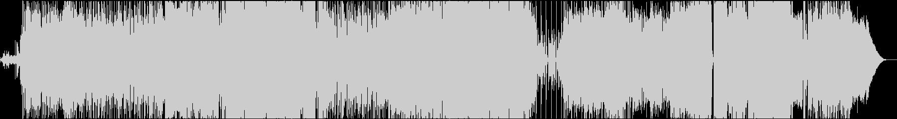 レゲエ調の夏ソングの未再生の波形