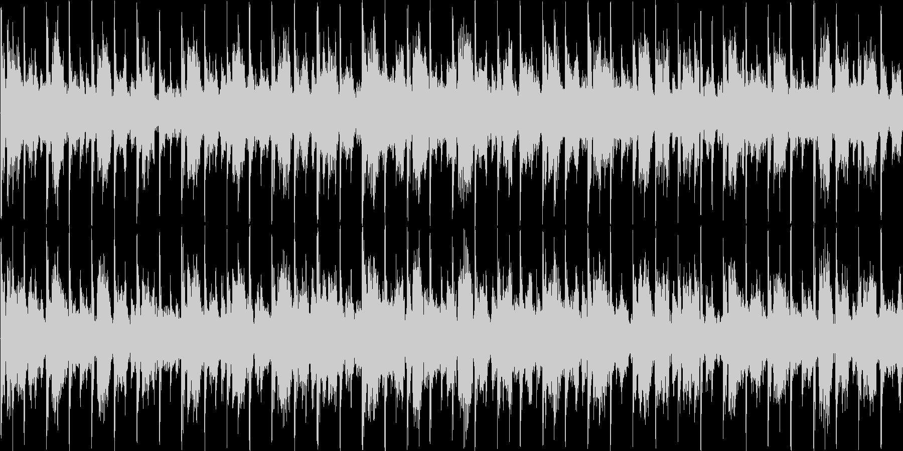 可愛らしい電子音が特徴のテクノの未再生の波形