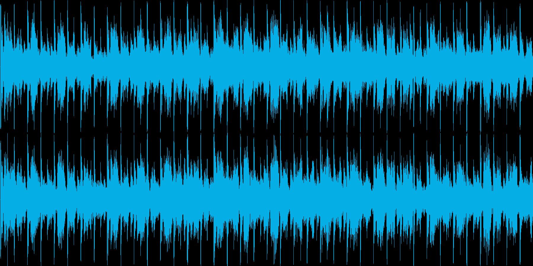 可愛らしい電子音が特徴のテクノの再生済みの波形