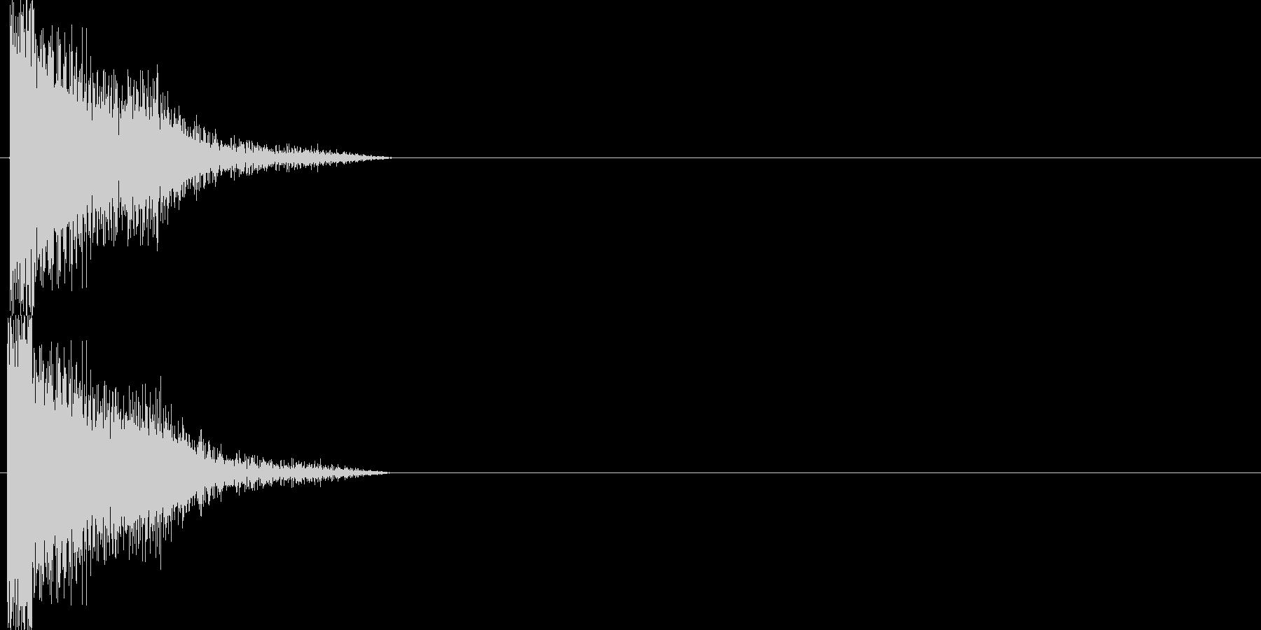 攻撃音12の未再生の波形