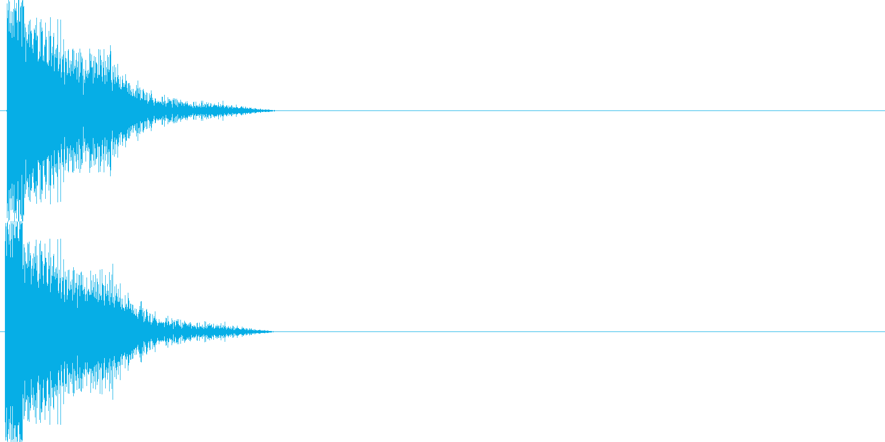 攻撃音12の再生済みの波形