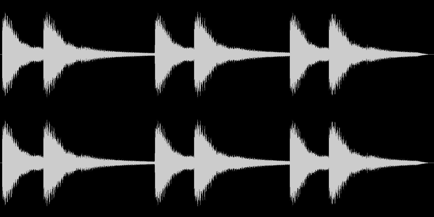 キーンコーンキーンコーン(鐘の音)の未再生の波形