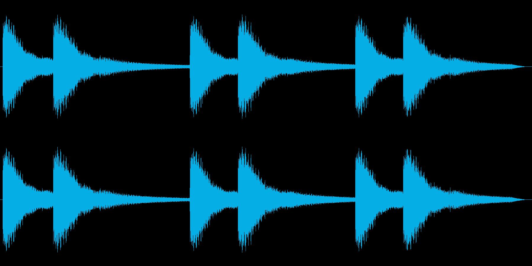 キーンコーンキーンコーン(鐘の音)の再生済みの波形