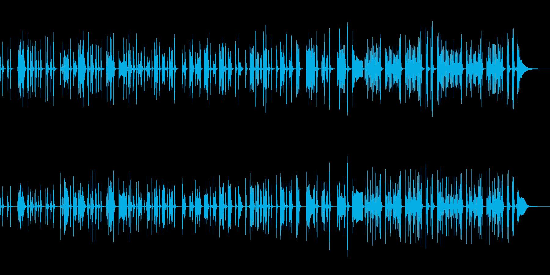 フラフラした日常の会話シーンでの音楽の再生済みの波形
