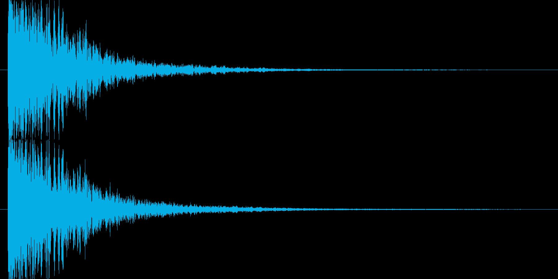 アタック音後にチリが舞うような余韻の再生済みの波形
