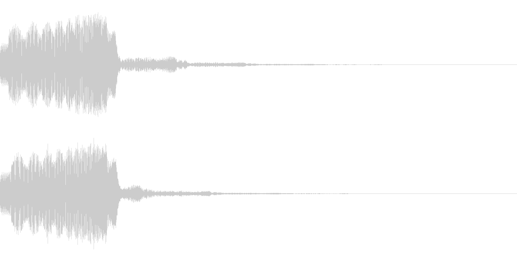 ギュウゥゥン↑シンプルなパワーアップ音の未再生の波形