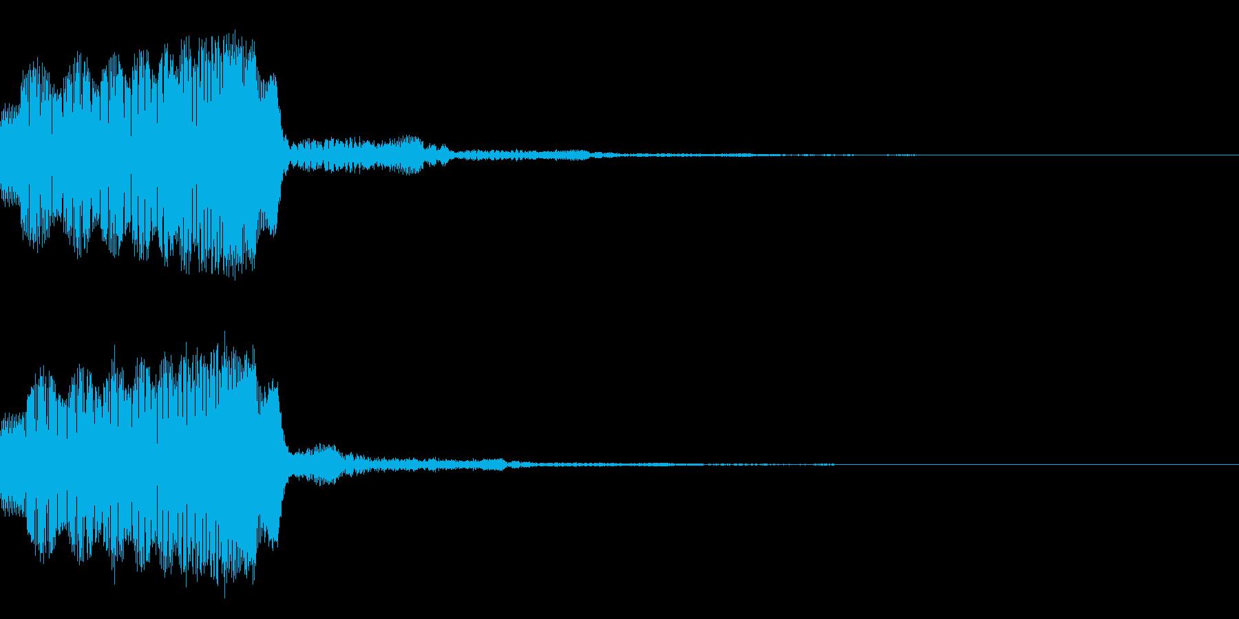 ギュウゥゥン↑シンプルなパワーアップ音の再生済みの波形