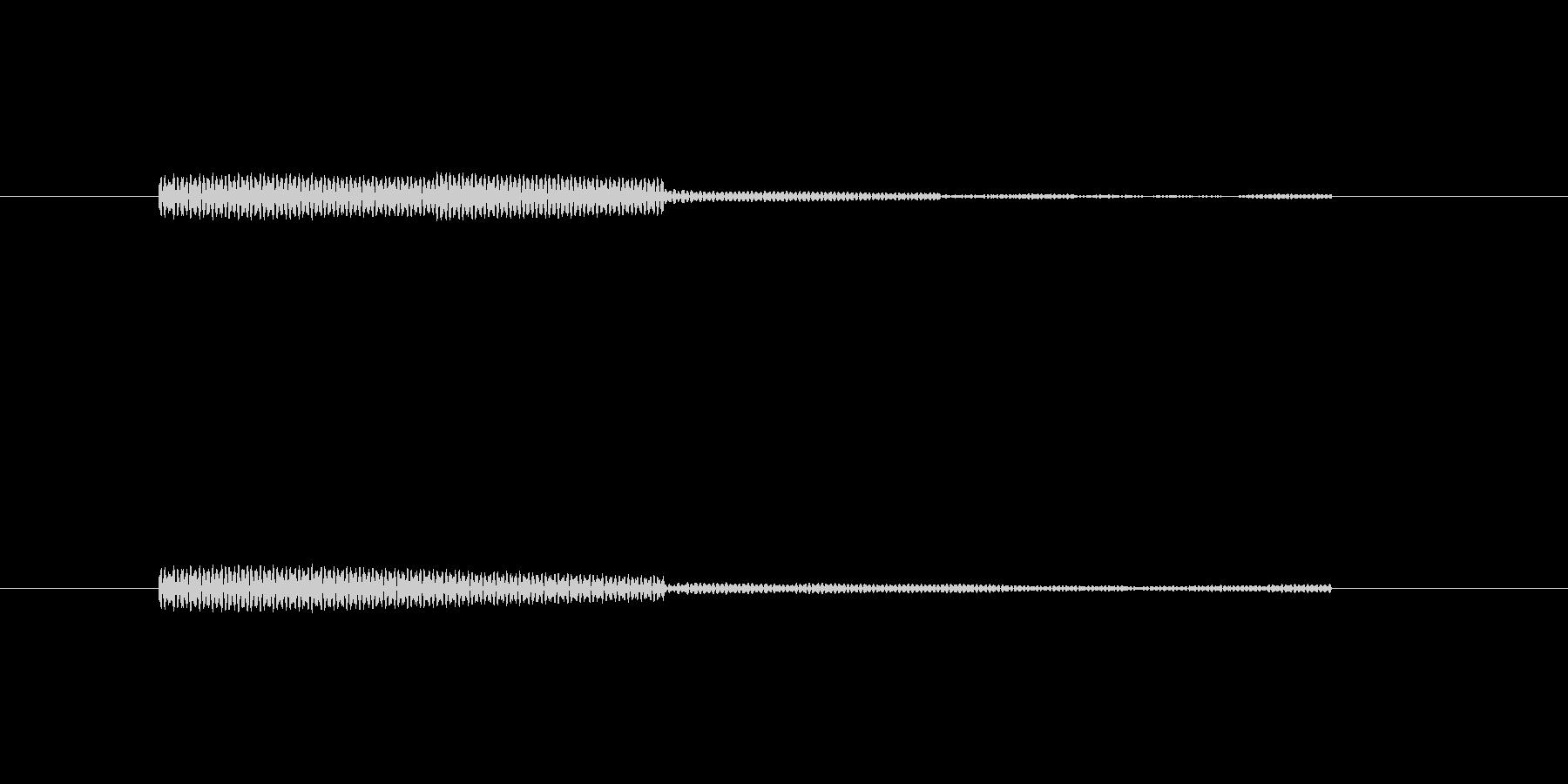 ポンと鳴るかわいい効果音の未再生の波形