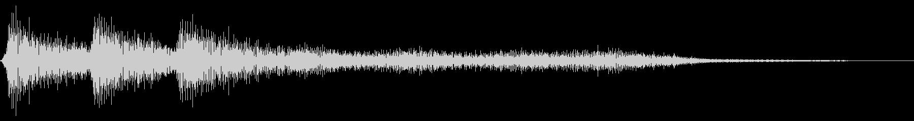 レトロなミス音 ゲームオーバー 失敗の未再生の波形