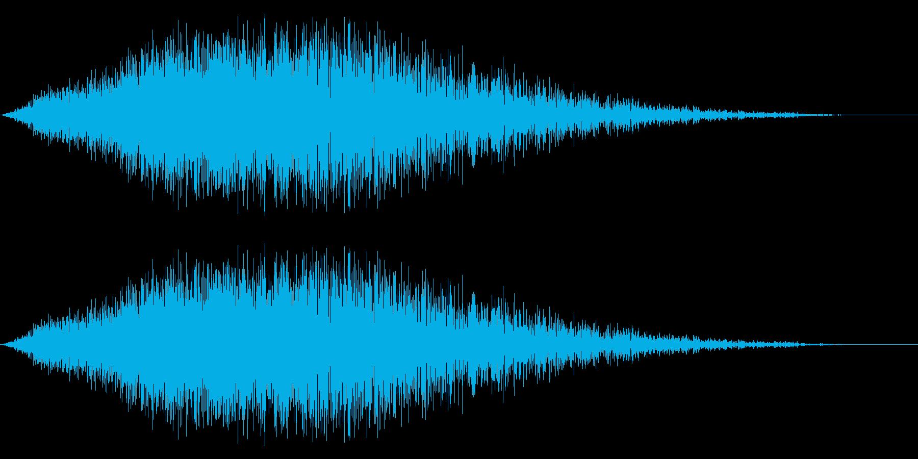 ノイズ(シューワー)の再生済みの波形