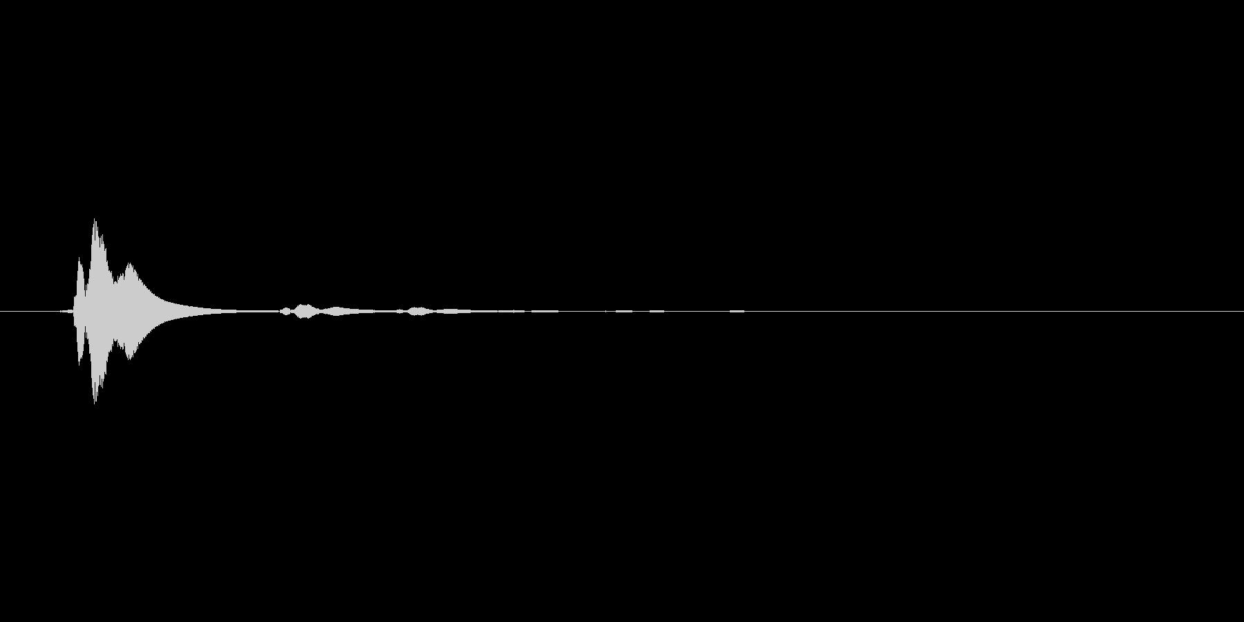 【効果音】メニュー系セットB_タッチの未再生の波形