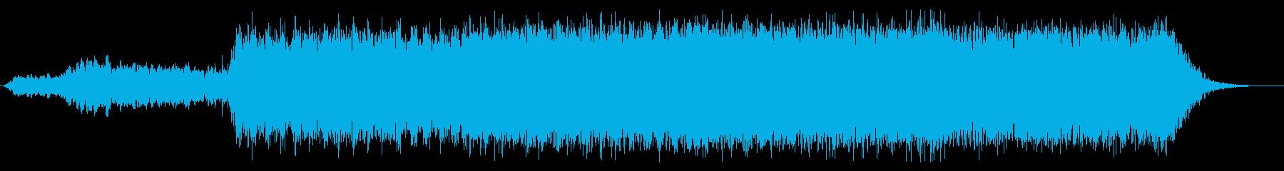 迫力と浮遊感のあるシネマティックな曲の再生済みの波形