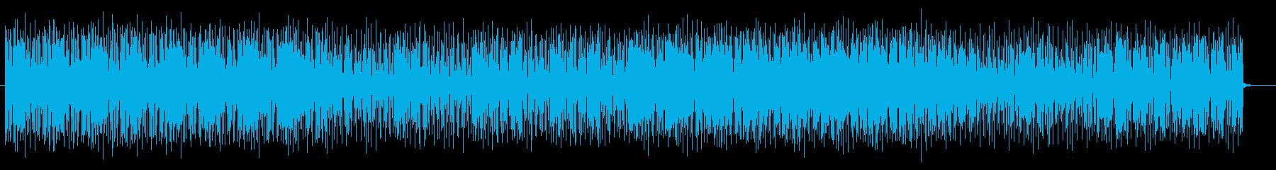 リズミカルなヒップホップ系テクノポップの再生済みの波形