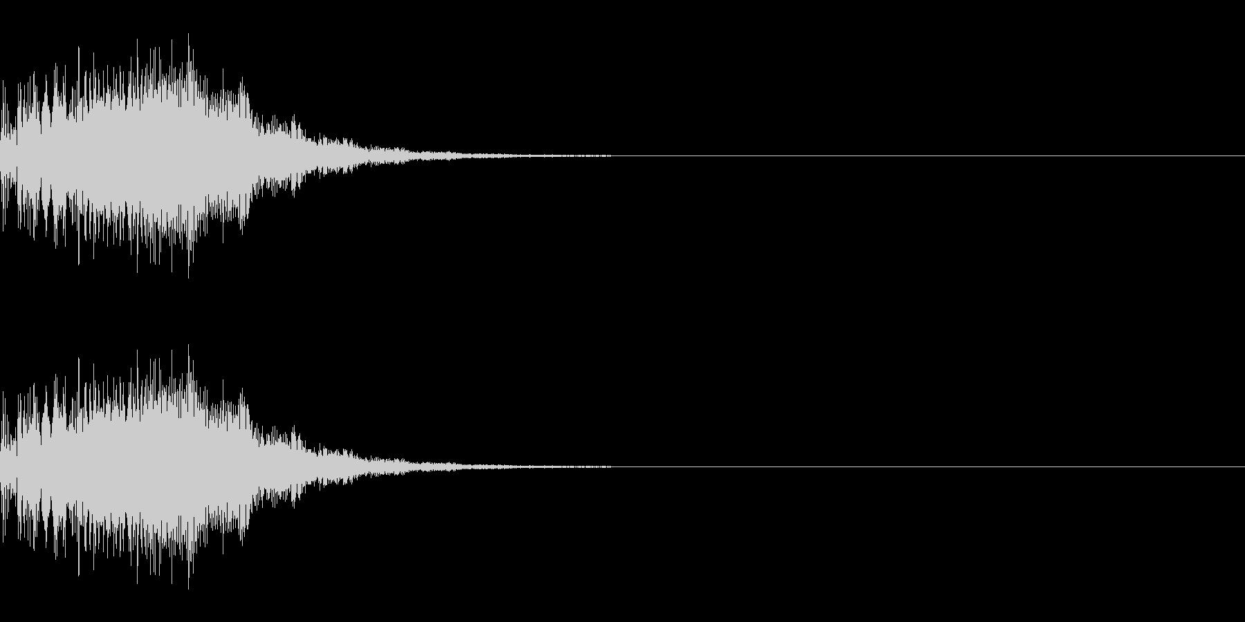 パワーアップ/ワープ/スピードアップの未再生の波形