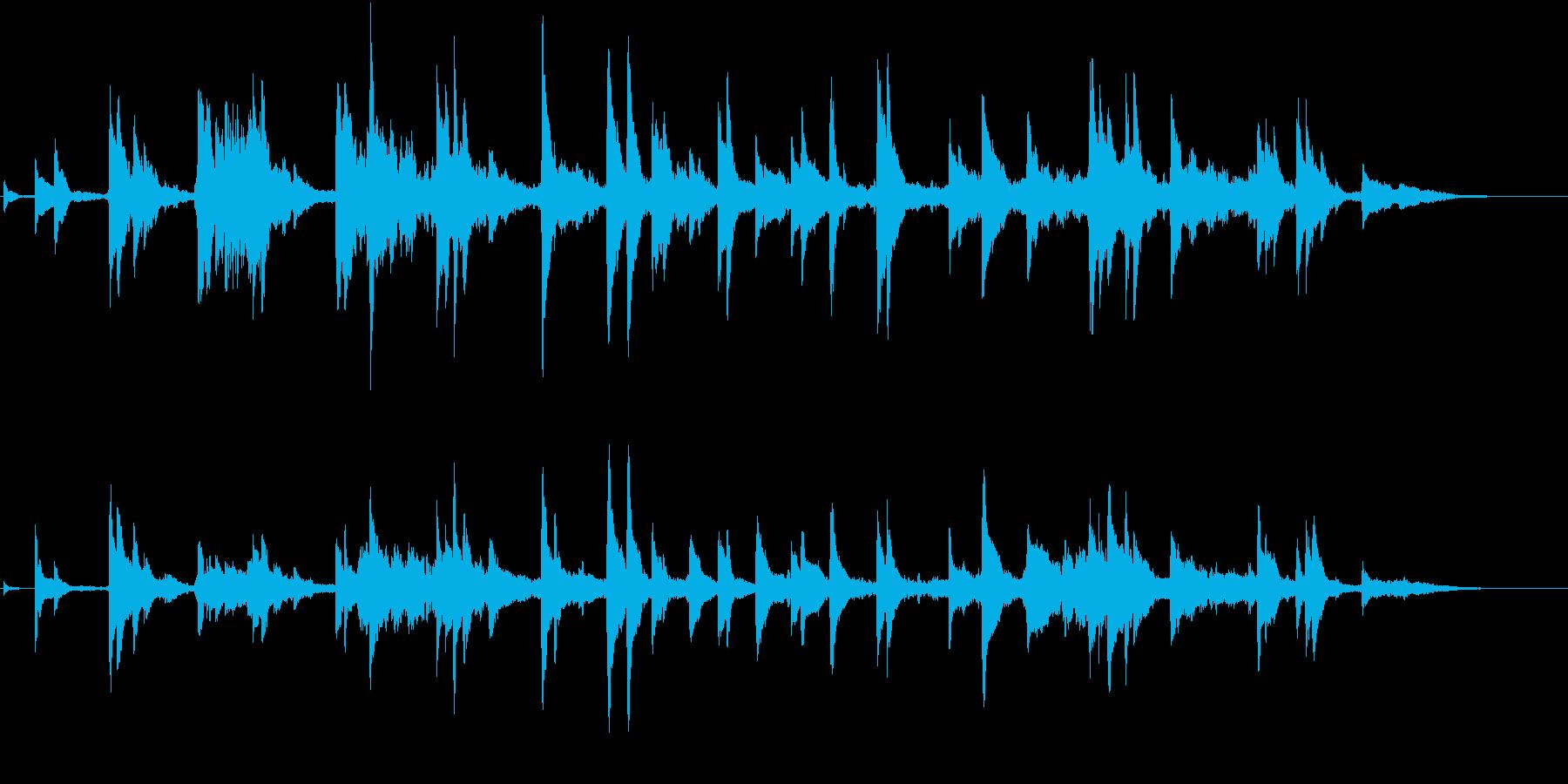 六甲山の夜景の再生済みの波形