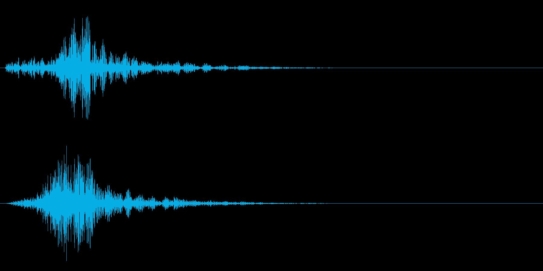 シャッ!カットイン/風切り/場面転換01の再生済みの波形