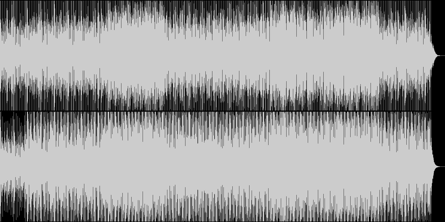 透明感のあるピアノのトランスの未再生の波形