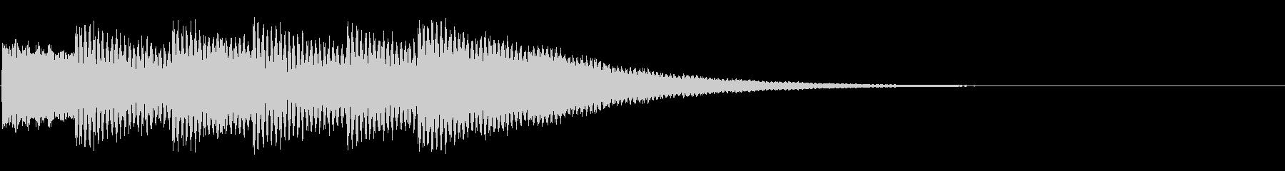 クイズ正解(ピンポーン×3)の未再生の波形
