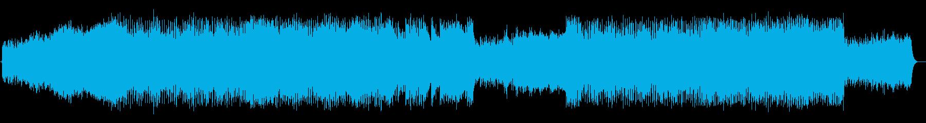 緩やかでしなやかなエレキサウンドの再生済みの波形